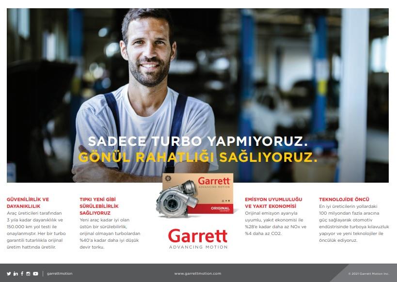 Garret Turbo Türkiye Teknolojide Öncü